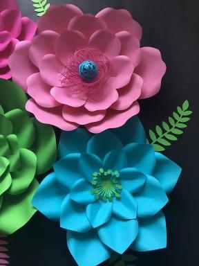 Nursery Set of Paper Flowers