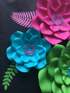 Nursery Set of Paper Flowers