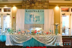 Tiffany's Sweets table backdrop