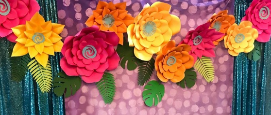 Moana Paper Flowers