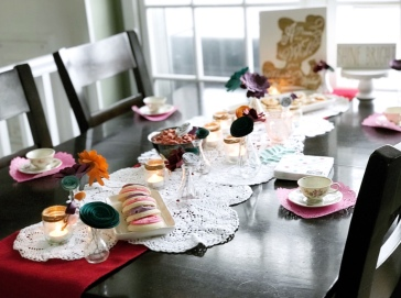 Paper Flower tea party