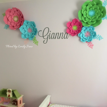 Paper flower nursery decor custom made to match a nursery