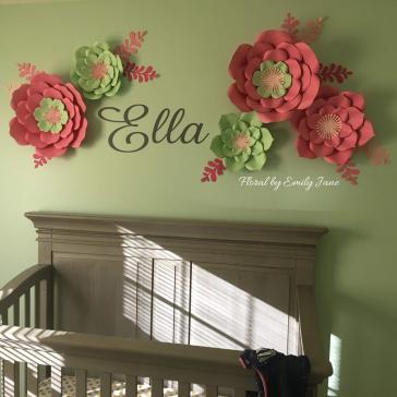 Paper flower nursery decor custom made to match a nursery