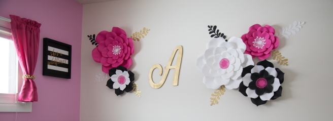 Paper flower nursery set