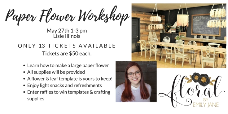 Paper Flower Workshop Chicago IL