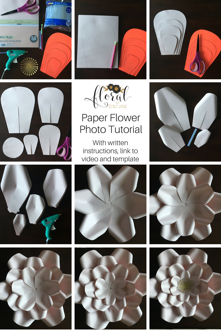 Photo Tutorial Hillary Paper Flower Floral By Emily Jane