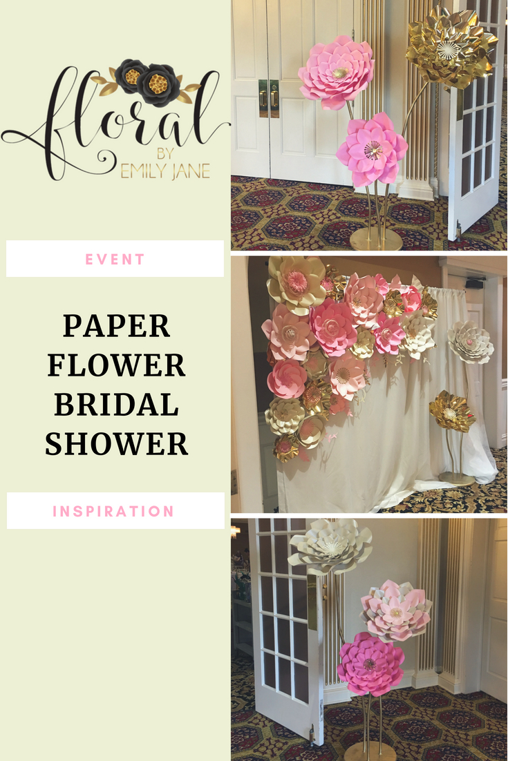 chicago paper flower bridal shower