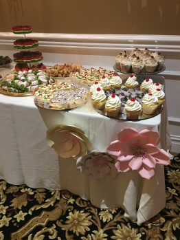Paper flower sweets table
