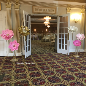 Giant free standing paper flowers