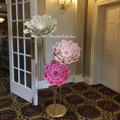 Chicago paper flowers