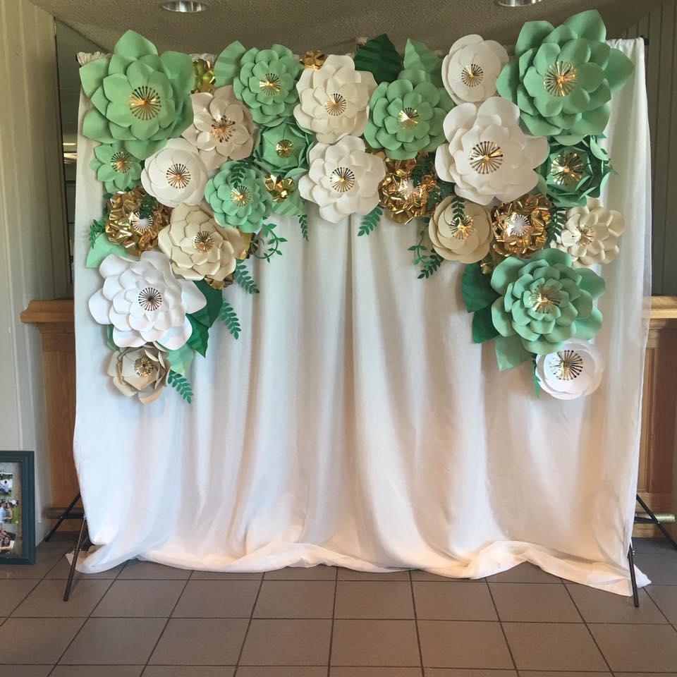 paper flower backdrop rentals  u2013 floral by emily jane
