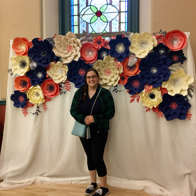 Paper Flower Backdrop Rentals Floral By Emily Jane