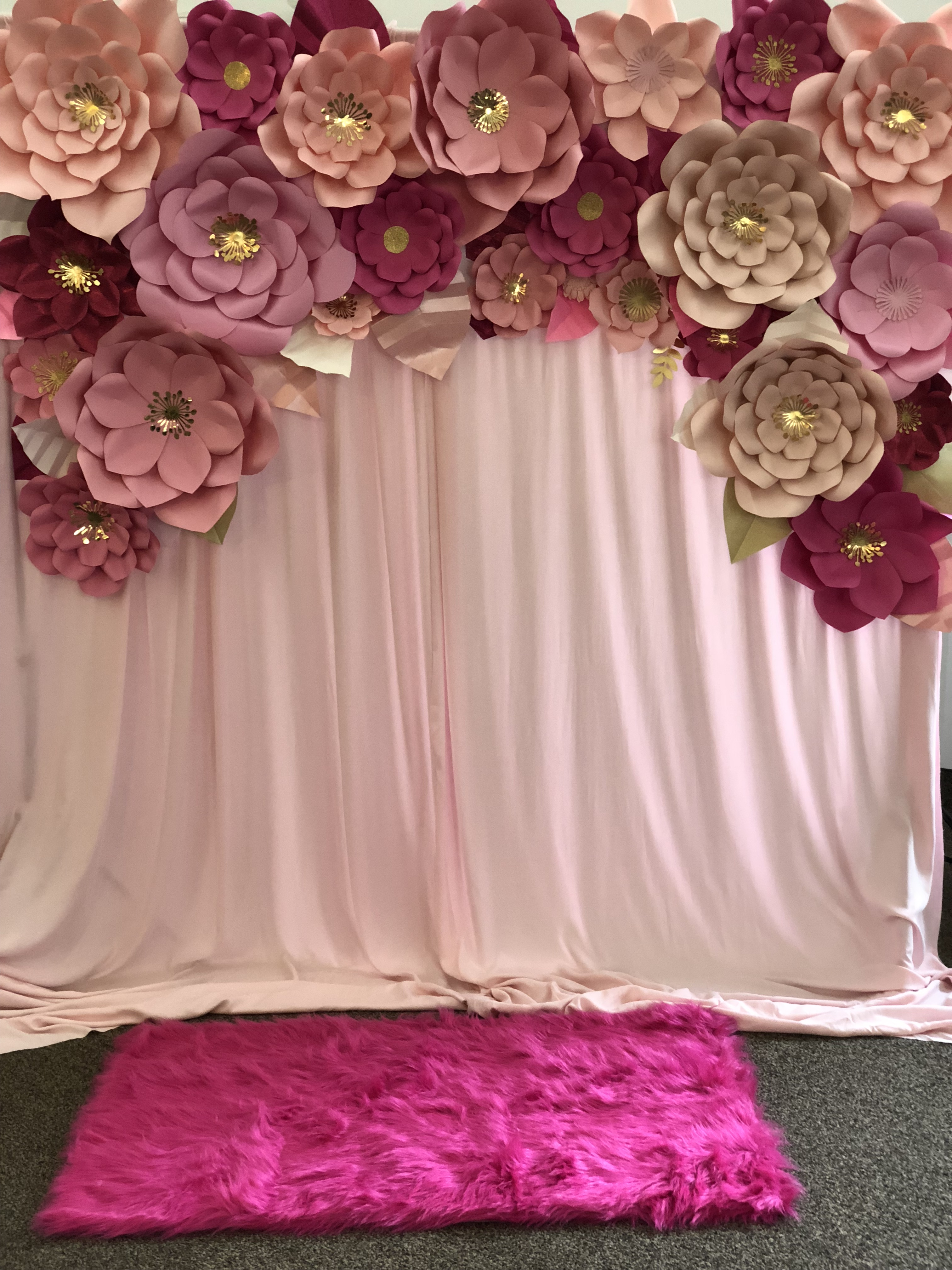 Paper Flower Backdrop Rentals Floral By Emily Jane